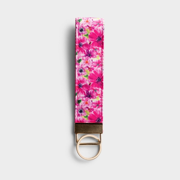 Keep keys together with this 'She is Worth More than Rubies' floral canvas strap keychain. The message on this inspirational keychain is a wonderful reminder of God's faithfulness. A perfect gift for Mother's Day, birthdays, and more.