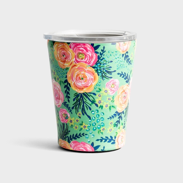 Madison Floral Stainless Steel Coffee Tumbler