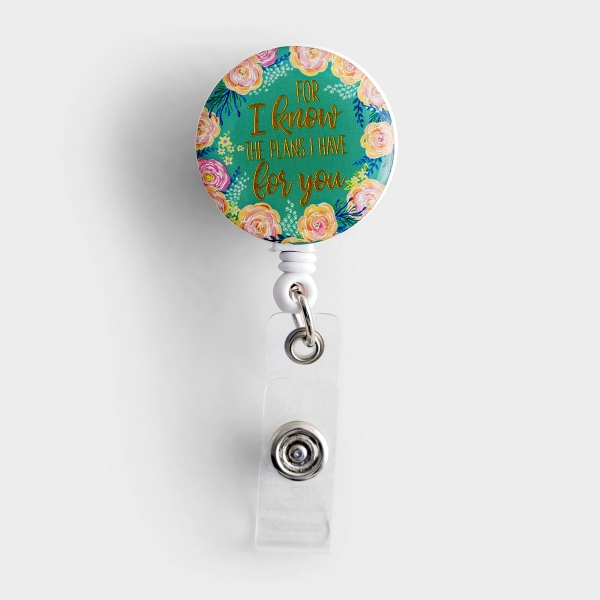 For I Know the Plans - Retractable Badge Reel