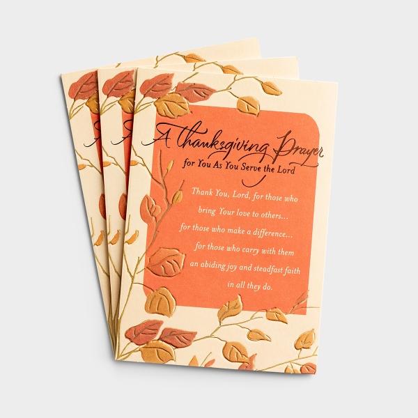 Thanksgiving - Thanksgiving Prayer - 3 Premium Cards