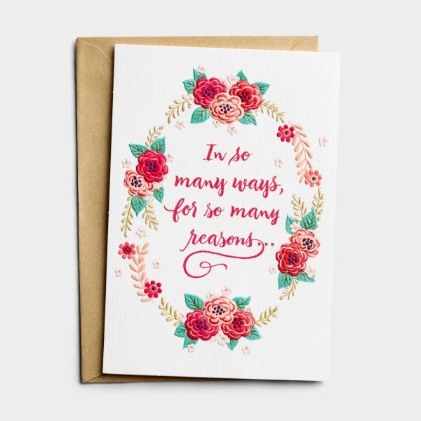 Valentine's Day - One I Love - So Many Reasons - 1 Premium Card
