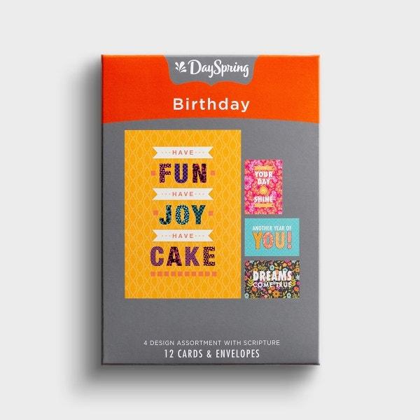 Birthday - Joy - 12 Boxed Cards