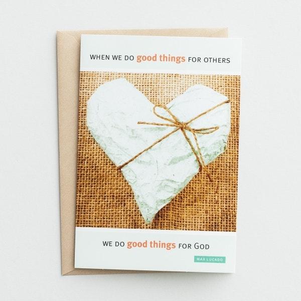 Max Lucado-Ministry Appreciation-Good Things-6 Premium Cards