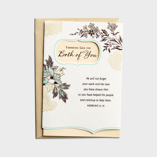 Ministry Appreciation - Thanking God for Both of You - Pastor & Spouse - 1 Premium Card