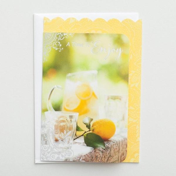 Congratulations - Retirement - A Time to Enjoy - 1 Premium Card, KJV