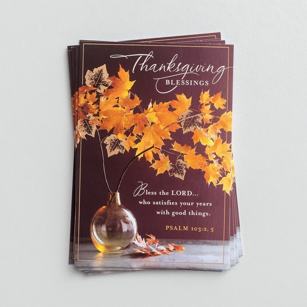 Thanksgiving - Thanksgiving Blessings - 8 Note Cards