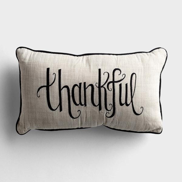Thankful - Cotton Throw Pillow