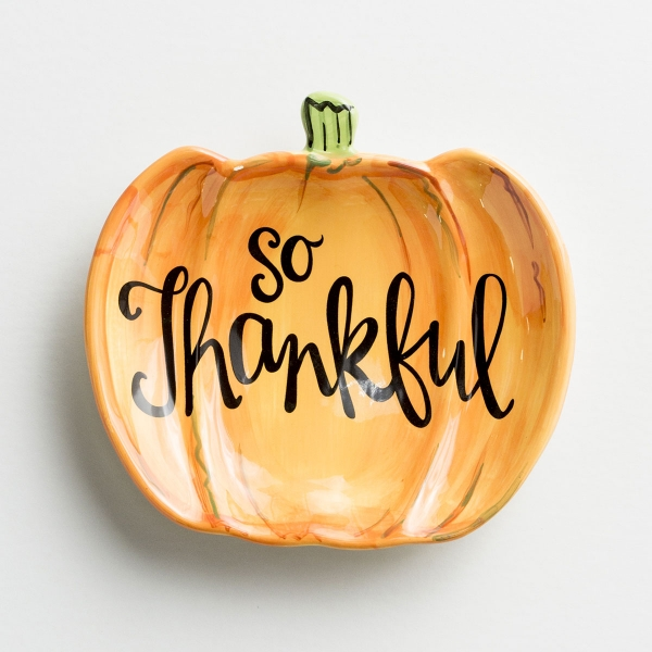 So Thankful - Pumpkin Ceramic Dish