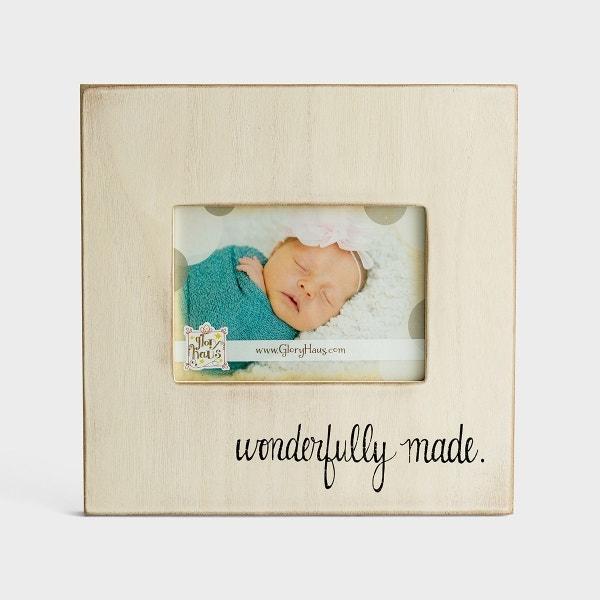 Wonderfully Made - Wooden Photo Frame