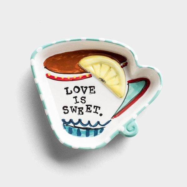 Love Is Sweet - Ceramic Dish/Tea Bag Holder