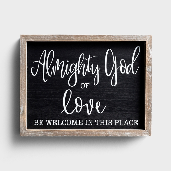 Almighty God of Love - Wood Framed Wall Art