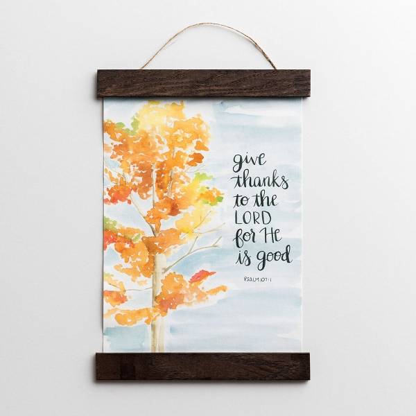 Give Thanks to the Lord - Canvas Banner Wall Art
