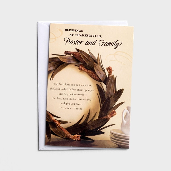 Thanksgiving - Pastor and Family - Blessings - 1 Premium Card