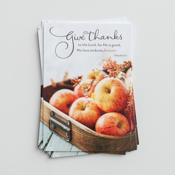 Thanksgiving - Give Thanks - 8 Note Cards