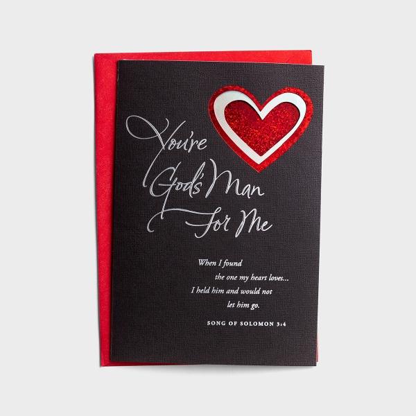 Valentine's Day - Husband - God's Man For Me - 1 Card