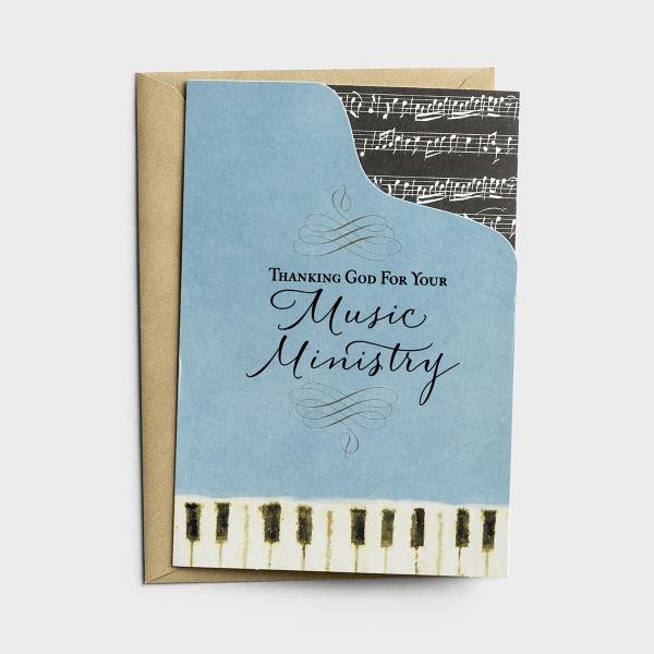 Ministry Appreciation - Music - Thanking God - 1 Premium CardMinistry Appreciation - Music - Thanking God - 1 Premium Card