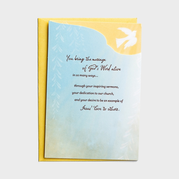 Ministry Appreciation - We're Thankful - 1 Premium Card, KJV