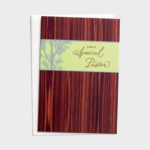 Ministry Appreciation - Pastor - For a Special Pastor - 1 Premium Card, KJV