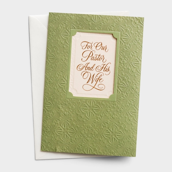 Ministry Appreciation - Pastor & Wife - Serving Hands, Loving Hearts - 1 Premium Card