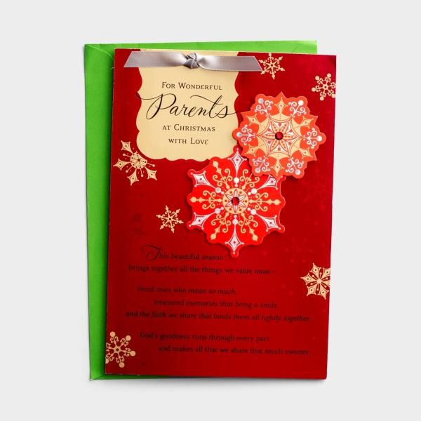 Christmas - For Wonderful Parents - 1 Premium Card