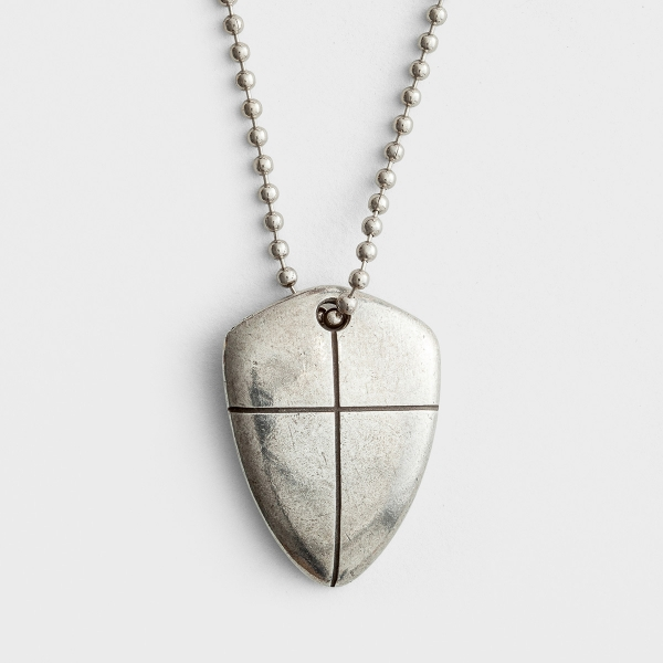 Shield of Faith - Pewter Necklace