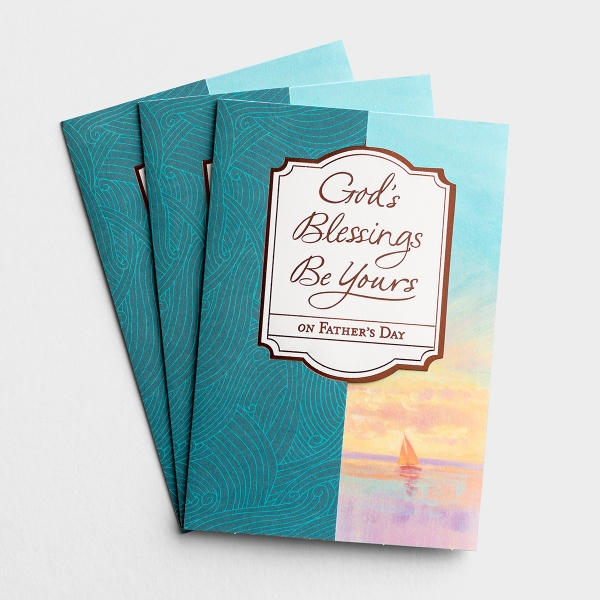 Father's Day - For Anyone - God's Blessings Be Yours - 3 Premium Cards, KJV