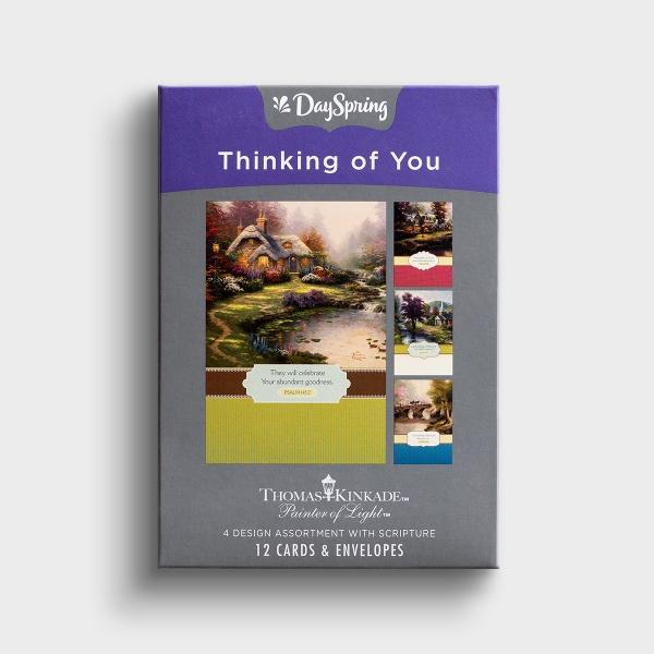 Thomas Kinkade - Thinking of You - 12 Boxed Cards