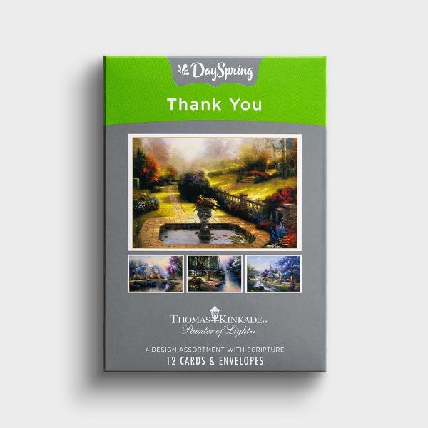 Thomas Kinkade - Thank You - 12 Boxed Cards, KJV