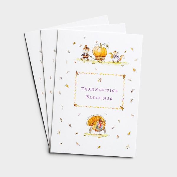 Thanksgiving - Blessings - 3 Premium Cards, KJV