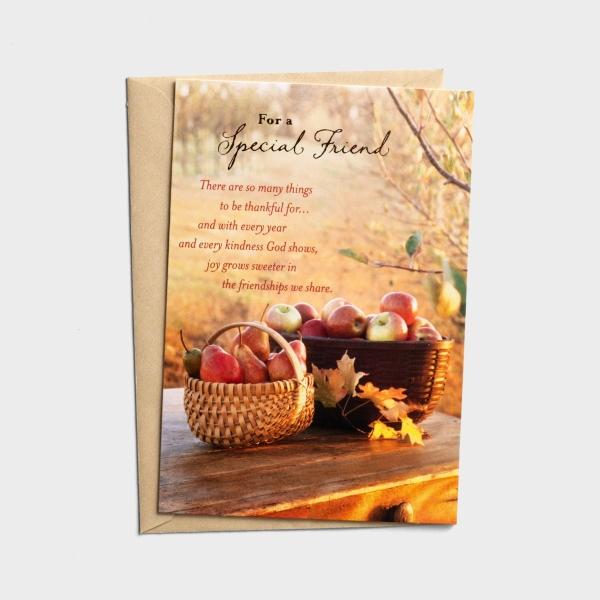 Thanksgiving - Special Friend - Joy Grows Sweeter - 1 Premium Card