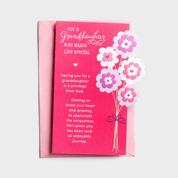 Valentine's Day - Granddaughter - Sweetest Blessing - 1 Card