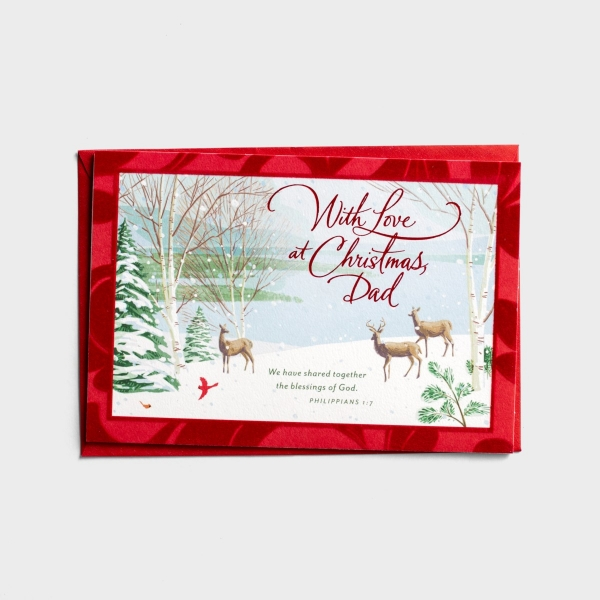 Christmas - Dad - With Love at Christmas - 1 Premium Card