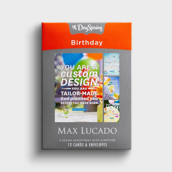 Max Lucado - Birthday - God Made You - 12 Boxed Cards