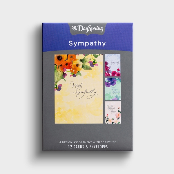 Sympathy - Comfort and Prayers - 12 Boxed Cards