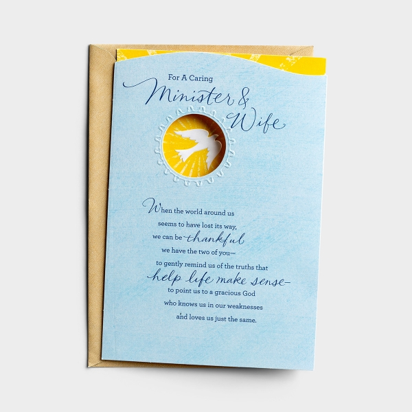 Ministry Appreciation - For a Caring Minister & Wife - 1 Premium Card