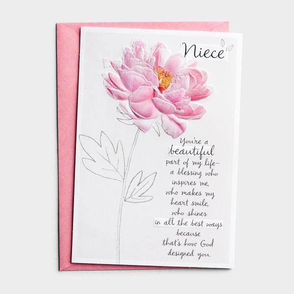 Birthday - Niece - A Reason To Celebrate - 1 Premium Card