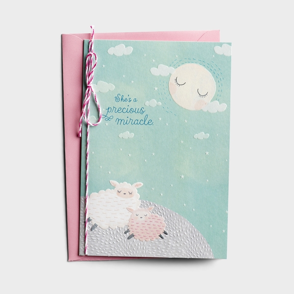 Baby Girl - Precious Miracle - 1 Premium Card