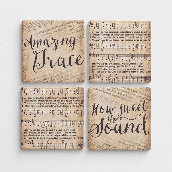 Amazing Grace - Ceramic Coasters, Set of 4