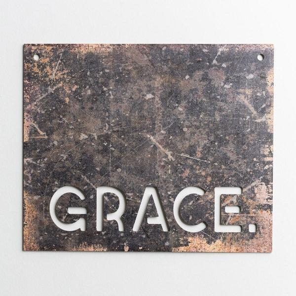 Grace - Faux Metal Sign