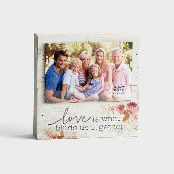 Love Is What Binds Us Together - Wooden Box Photo Frame