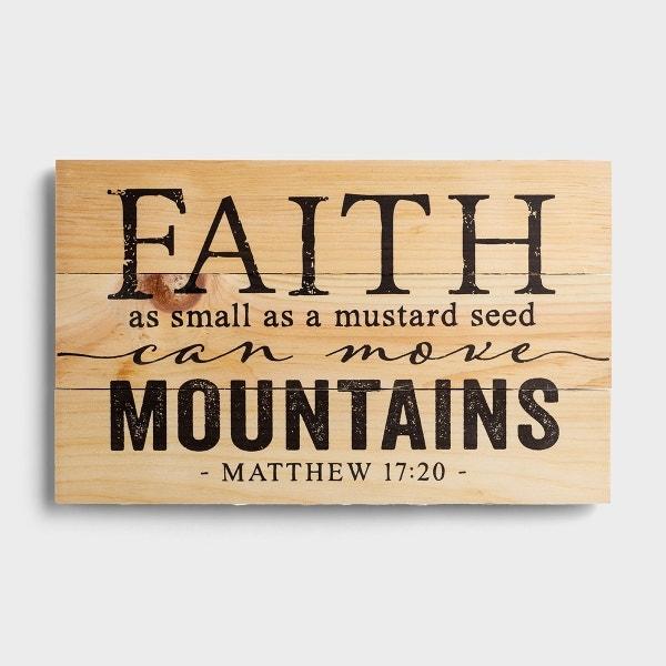 Move Mountains - Plank Wall Art