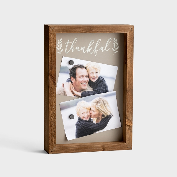 Thankful - Wood Frame Magnet Board with Magnets