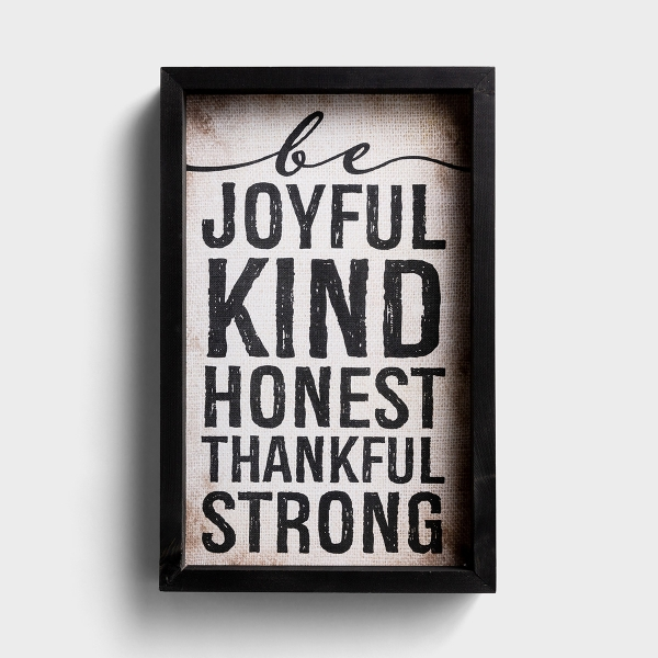 Be Joyful - Wood Framed Wall Art
