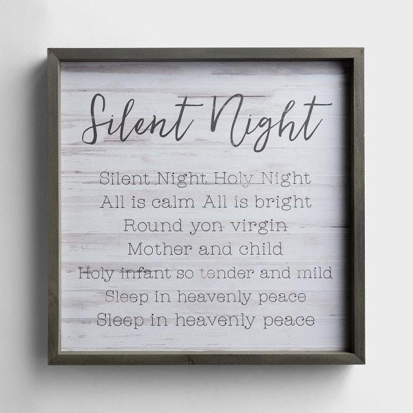 Silent Night - Wood Framed Art
