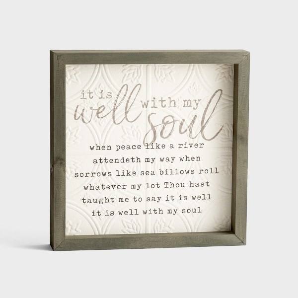 It Is Well with My Soul - Wooden Framed Wall Art