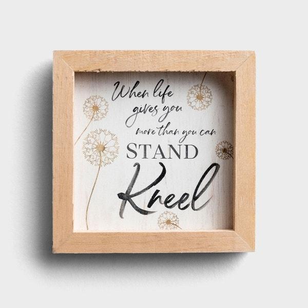 Kneel - Small Wooden Framed Wall Art