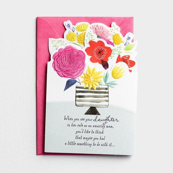 Mother's Day - Daughter - Great Job - 1 Premium Card