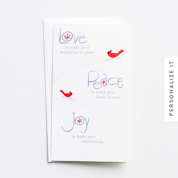 Little Inspirations - Love, Peace, Joy - 16 Christmas Boxed Cards
