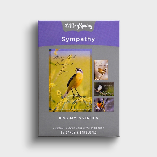 Sympathy - Comforting Thoughts  - 12 Boxed Cards, KJV