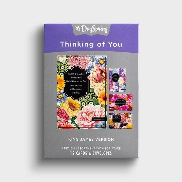 Thinking of You - Abundant Blessings - 12 Boxed Cards, KJV